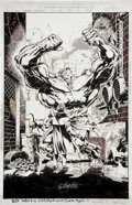 Original Comic Art:Splash Pages, Sal Velluto and Bob Almond Black Panther #15, Splash page 1Original Art (Marvel, 1998)....