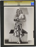 """Movie Posters:Comedy, Jean Harlow in """"Saratoga"""" by George Hurrell (MGM, 1937). Still (8""""X 10"""").. ..."""