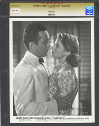 "Humphrey Bogart and Ingrid Bergman in ""Casablanca"" (Warner Brothers, 1942). Still (8"" X 10"")"