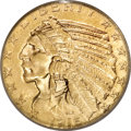 Indian Half Eagles, 1916-S $5 MS62 PCGS....