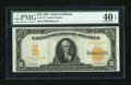 Large Size:Gold Certificates, Fr. 1171 $10 1907 Gold Certificate PMG Extremely Fine 40 EPQ....