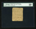Colonial Notes:Pennsylvania, Pennsylvania July 1, 1757 15s PMG Very Good 10 Net....