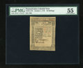 Colonial Notes:Pennsylvania, Pennsylvania October 1, 1773 50s PMG About Uncirculated 55....