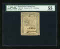 Colonial Notes:Pennsylvania, Pennsylvania October 25, 1775 20s PMG About Uncirculated 55....
