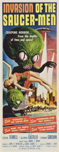 "Movie Posters:Science Fiction, Invasion of the Saucer-Men (American International, 1957). Insert (14"" X 36"").. ..."