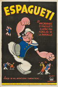 "Movie Posters:Animated, Popeye (Paramount, 1940s). Argentinean Poster (29"" X 43"").. ..."
