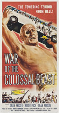 "Movie Posters:Science Fiction, War of the Colossal Beast (American International, 1958). ThreeSheet (41"" X 81"").. ..."