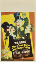 "Movie Posters:Comedy, You Can't Cheat an Honest Man (Universal, 1939). Midget Window Card (8"" X 14"").. ..."