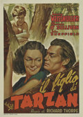 "Movie Posters:Adventure, Tarzan Finds a Son (MGM, 1939). Italian (28"" X 39"").. ..."