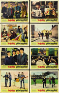 "Movie Posters:Rock and Roll, A Hard Day's Night (United Artists, 1964). Lobby Card Set of 8 (11""X 14"").. ... (Total: 8 Items)"