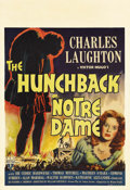 "Movie Posters:Horror, The Hunchback of Notre Dame (RKO, 1939). Window Card (14"" X20.5"").. ..."