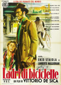 """Movie Posters:Foreign, The Bicycle Thief (Ente Nazionale Industrie Cinematografiche (ENIC), R-1955). Italian 2 - Folio (39"""" X 55"""").. ..."""