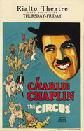 """Movie Posters:Comedy, The Circus (United Artists, 1928). Window Card (14"""" X 22"""").. ..."""