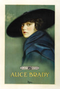"Movie Posters:Short Subject, Alice Brady Stock (Select, 1918). One Sheet (27"" X 41"").. ..."