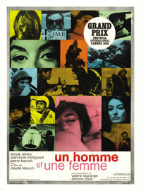 """A Man and a Woman (Allied Artists, 1966). French Petite (22"""" X 30.5"""")"""