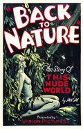 "Movie Posters:Documentary, Back to Nature (Vision Pictures, 1933). One Sheet (27"" X 41"").. ..."