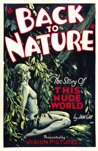 """Back to Nature (Vision Pictures, 1933). One Sheet (27"""" X 41"""")"""