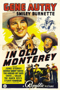 "Movie Posters:Western, In Old Monterey (Republic, 1939). One Sheet (27"" X 41"").. ..."