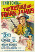"""Movie Posters:Western, The Return of Frank James (20th Century Fox, 1940). One Sheet (27"""" X 41"""").. ..."""