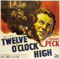 "Movie Posters:War, Twelve O'Clock High (20th Century Fox, 1949). Six Sheet (81"" X 81"").. ..."