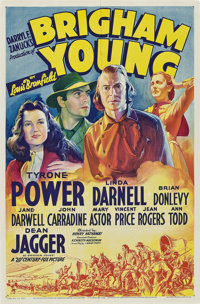 """Brigham Young (20th Century Fox, 1940). One Sheet (27"""" X 41"""") Style A"""