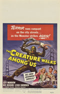 "Movie Posters:Science Fiction, The Creature Walks Among Us (Universal International, 1956). WindowCard (14"" X 22"").. ..."