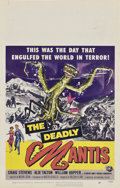 """Movie Posters:Science Fiction, The Deadly Mantis (Universal International, 1957). Window Card (14""""X 22"""").. ..."""