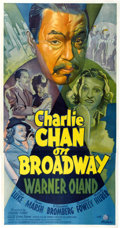 "Movie Posters:Mystery, Charlie Chan on Broadway (20th Century Fox, 1937). Three Sheet (41"" X 81"").. ..."