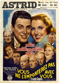 """Movie Posters:Comedy, You Can't Take it with You (Columbia, 1938). Pre-War Belgian (24"""" X33.5"""").. ..."""