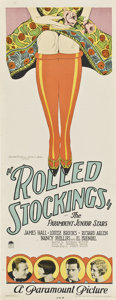 "Movie Posters:Drama, Rolled Stockings (Paramount, 1927). Insert (14"" X 36"").. ..."