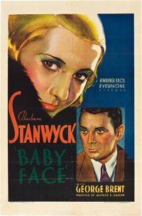 "Baby Face (Warner Brothers, 1933). One Sheet (27"" X 41"")"
