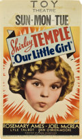 "Movie Posters:Drama, Our Little Girl (Fox, 1935). Midget Window Card (8"" X 14"").. ..."