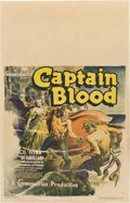 "Movie Posters:Adventure, Captain Blood (Warner Brothers, 1935). Window Card (14"" X 22"")....."