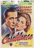 "Movie Posters:Drama, Casablanca (Warner Brothers, 1947). Post-War Belgian (11"" X 15"")....."