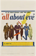 "Movie Posters:Drama, All About Eve (20th Century Fox, 1950). Window Card (14"" X 22"")....."