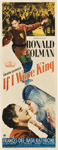 "Movie Posters:Adventure, If I Were King (Paramount, 1938). Insert (14"" X 36"").. ..."