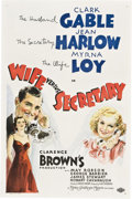 "Movie Posters:Drama, Wife vs. Secretary (MGM, 1936). One Sheet (27"" X 41"") Style D.. ..."