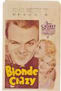 """Movie Posters:Comedy, Blonde Crazy (Warner Brothers, 1931). Window Card (14"""" X 22"""").. ..."""