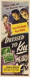 """Movie Posters:Mystery, Dressed to Kill (Universal, 1946). Insert (14"""" X 36"""").. ..."""