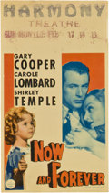 """Movie Posters:Drama, Now and Forever (Paramount, 1934). Midget Window Card (8"""" X 14"""")....."""