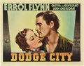 "Movie Posters:Western, Dodge City (Warner Brothers, 1938). Lobby Card (11"" X 14"").. ..."