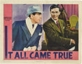 "Movie Posters:Crime, It All Came True (Warner Brothers, 1940). Lobby Card (11"" X 14"")....."