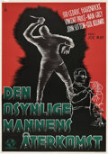 "Movie Posters:Horror, The Invisible Man Returns (Universal, 1940). Swedish One Sheet (27.5"" X 39.5"").. ..."