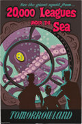 "Movie Posters:Science Fiction, 20,000 Leagues Under the Sea (Disney, 1960s). Disneyland ParkPoster (35.5"" X 54"").. ..."
