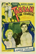 """Movie Posters:Adventure, Tarzan the Fearless (Principal Distributing, 1933). One Sheet (27"""" X 41"""") Chapter 12 -- """"Jungle Justice"""".. ..."""