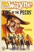 "Movie Posters:Western, King of the Pecos (Republic, 1936). One Sheet (27"" X 41"").. ..."