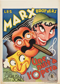 "Movie Posters:Comedy, A Night at the Opera (MGM, 1936). Pre-War Belgian (23.75"" X33.5"").. ..."