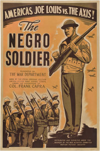 "The Negro Soldier (U.S. Films Inc., 1944). Poster (40"" X 60"")"