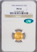 Commemorative Gold, 1903 G$1 Louisiana Purchase/McKinley MS66 NGC. CAC....