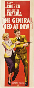 "Movie Posters:Adventure, The General Died at Dawn (Paramount, 1936). Insert (14"" X 36"")....."
